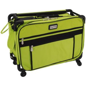 Tutto Lime Medium Machine Tote with Wheels