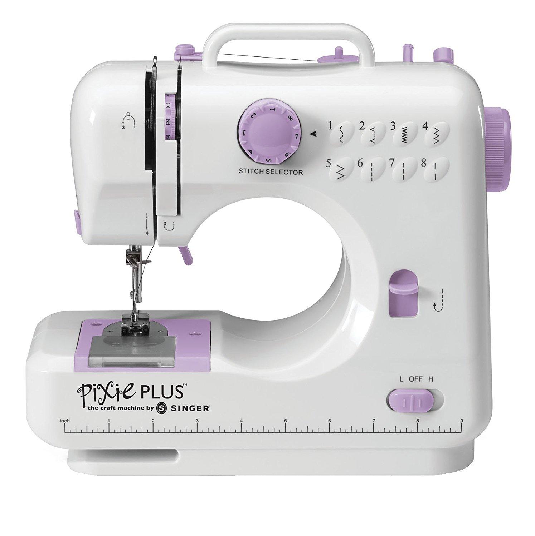 10-Stitch Sewing Machine Fuchsia Pink Compact Portable Small Left Center Needle